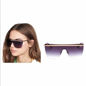 QUAY x DESI PERKINS Get Right purple sunglasses